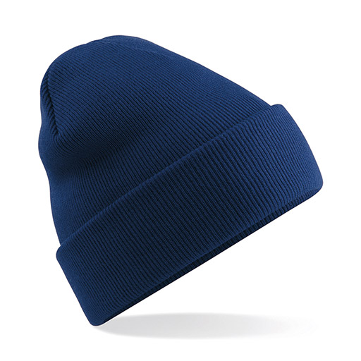 Oxford Navy Cuffed Beanie
