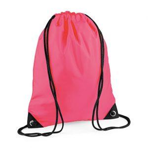Fluorescent Pink Gym Sac