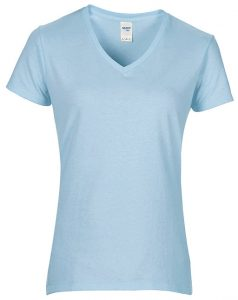 Light Blue Premium V-Neck