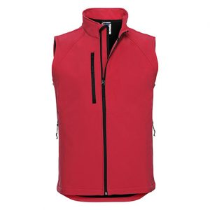 Classic Red Softshell Gilet