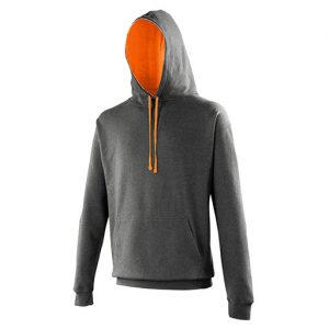 Charcoal_Orange Crush Varsity HoodieCharcoal_Orange Crush Varsity Hoodie