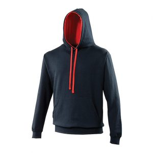 New French Navy_Fire Red Hoodie