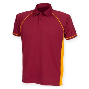 Maroon Amber Performance Polo