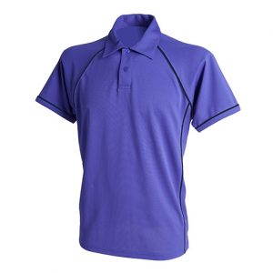 Purple Navy Performance Polo