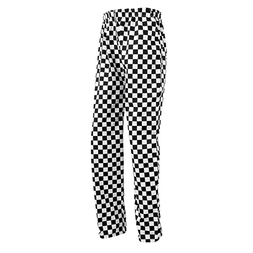 Black White Chefs Trousers