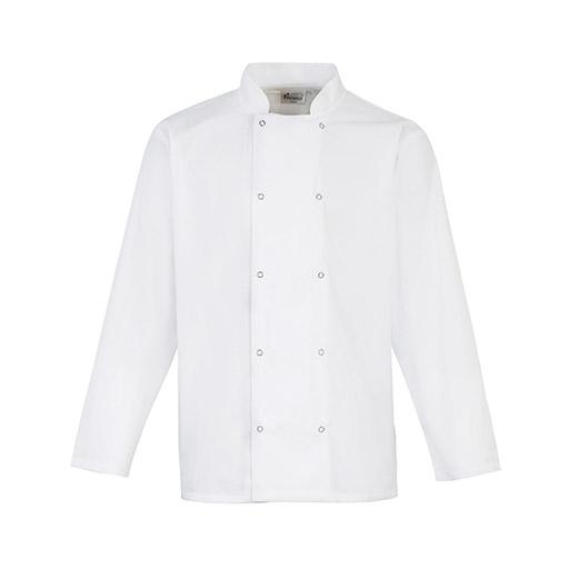 White Long Sleeve Chef Jacket