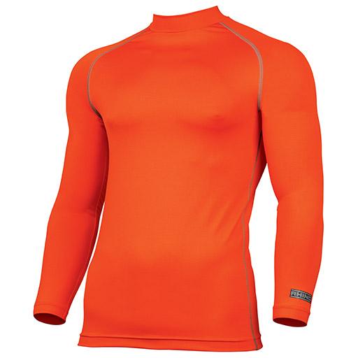 Fluorescent Orange Rhino Baselayer Long Sleeve