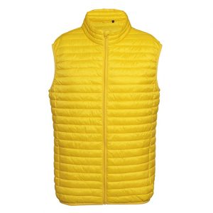 Bright Yellow Fineline Padded Gilet