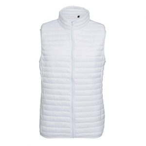 White Fineline Padded Gilet