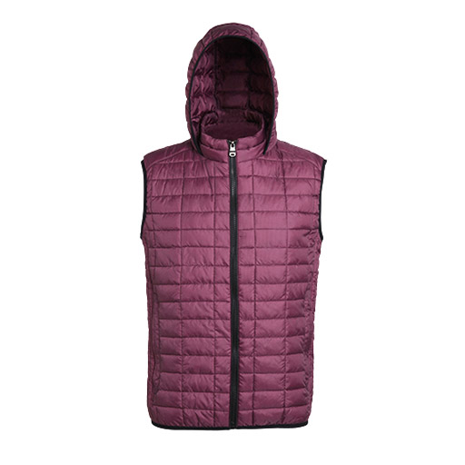 Mulberry Honeycomb Hooded Gilet