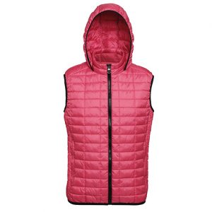 Red Honeycomb Hooded Gilet