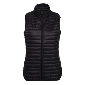 Black Fineline Padded Gilet