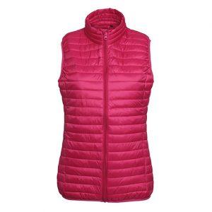 Hot Pink Fineline Padded Gilet