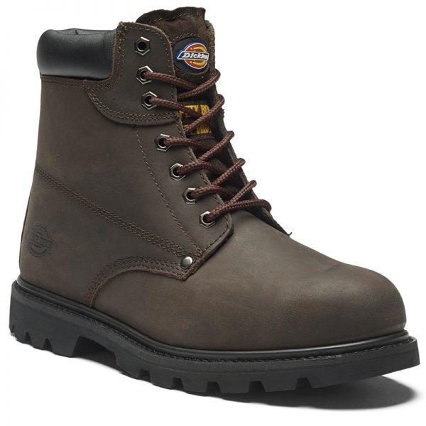 dark brown cleveland safety boot