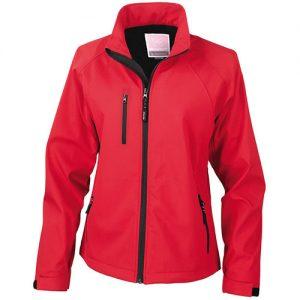 women softshell baselayer red