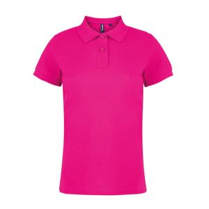 womens hot pink polo shirt placeholder