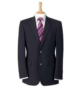 Avelino Jacket Charcoal Pinstripe