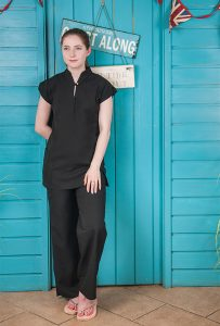 Mandarin Tunic Black