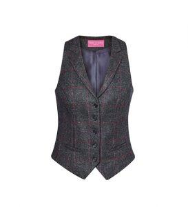 Nashville Waistcoat Charcoal Pink