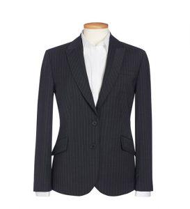Novara Jacket Charcoal Pinstripe