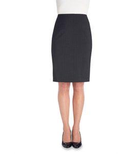 Numana Skirt Charcoal Pinstripe
