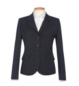 Susa Jacket Charcoal Pinstripes