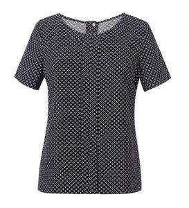 Verona Womens Blouse Black Print