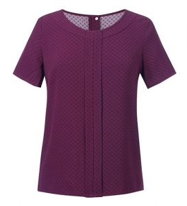 Verona Womens Blouse Burgundy Print