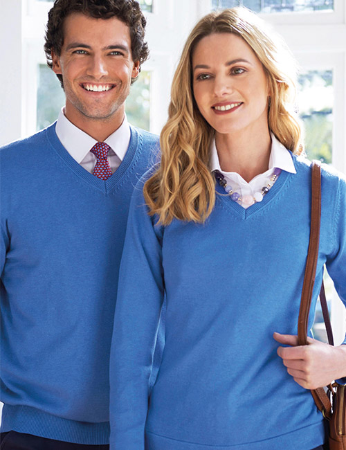 atlanta v-neck jumper light blue product image-2
