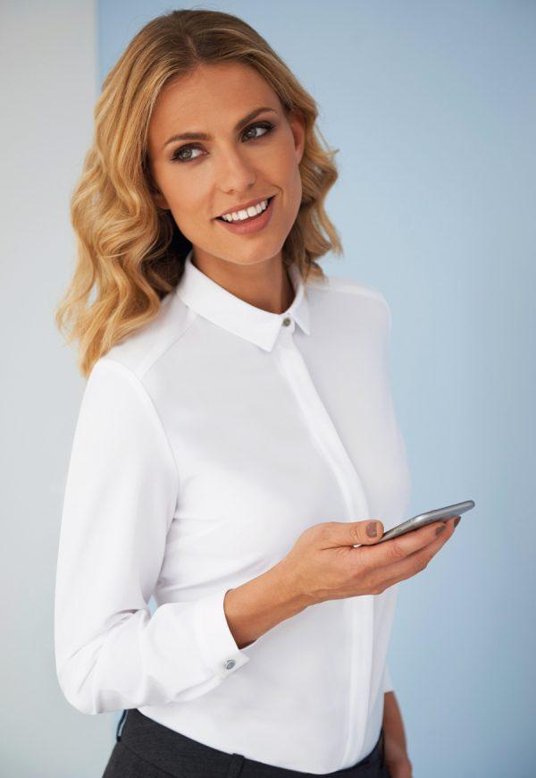 capri blouse white product image