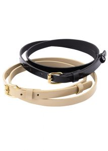 ladies fashion belt black