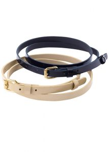 ladies fashion belt navy
