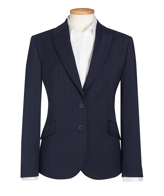 novara jacket navy pinstripe