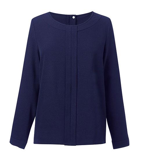 roma blouse navy