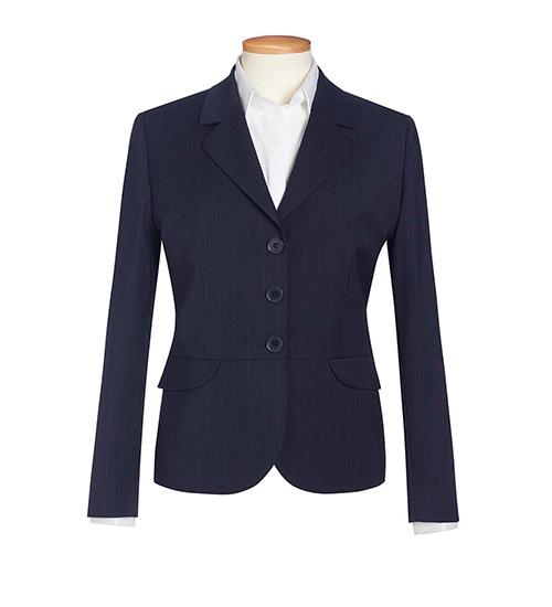 susa jacket navy pinstripe