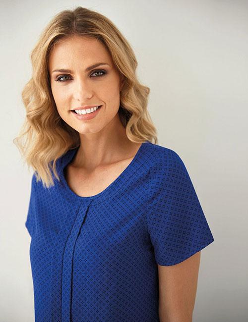 verona blouse being worn