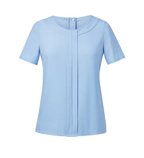 verona blouse sky blue