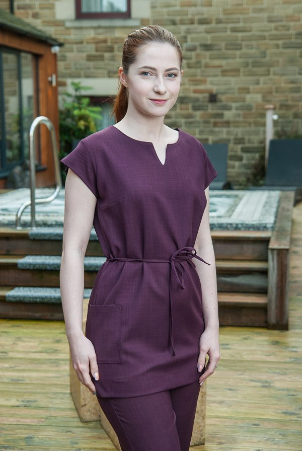 Notch Neck Tunic Plum