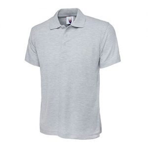 classic polo heather grey