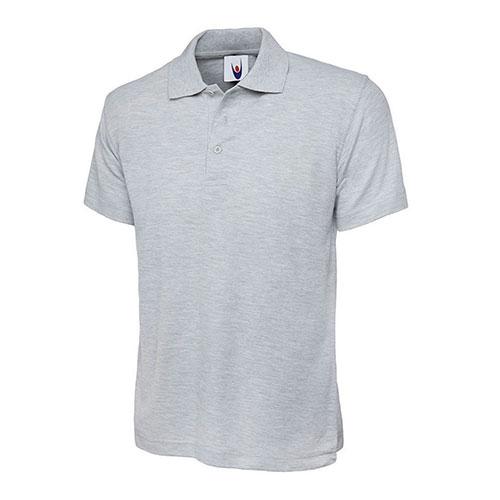 classic polo heather grey
