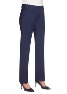 genoa womens mid blue trousers